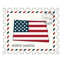 North dakota postage stamp