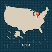 Ohio state on the map of usa