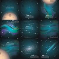 Outer space background collection