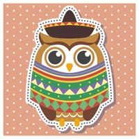 Owl in mexican outfit