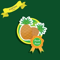 Popular : Pineapple label