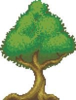 Pixel green tree