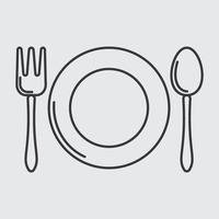 Popular : Plate with spoon and fork