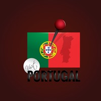 Portugal flag with map pointer