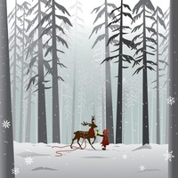 Reindeer in the forest