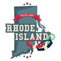 Rhode island map with jewelry manufacturing