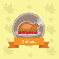 Popular : Roasted chicken label