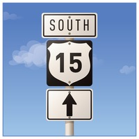 Popular : Route fifteen road sign