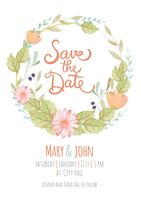 Save the date template design