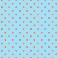Seamless polka dotted background