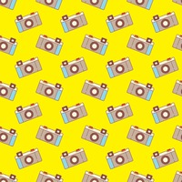 Seamless Vintage Camera Background