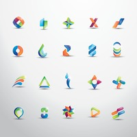 Set of abstract logos