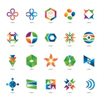 Popular : Set of abstract logos