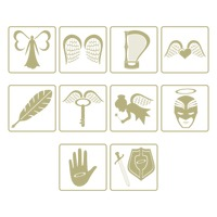 Set of angel icons