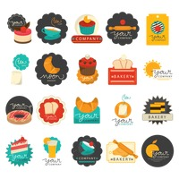 Popular : Set of bakery icons
