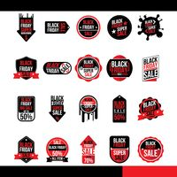 Popular : Set of black friday sale icons