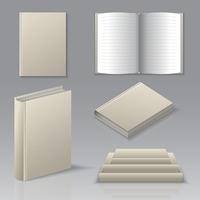 Set of books icons