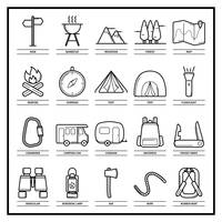 Popular : Set of camping equipment