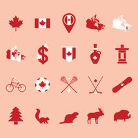 Popular : Set of canada icons