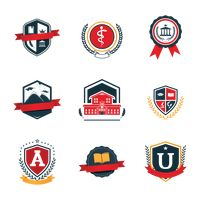 Set of education logo design icons