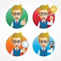 Set of employee icons