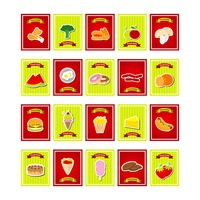 Popular : Set of food menu cards