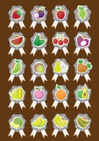 Popular : Set of fruit icons