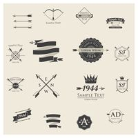 Popular : Set of logo element icons