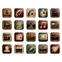 Set of mobile icon