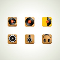 Popular : Set of musical icons