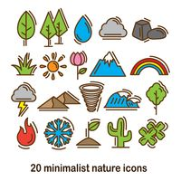 Popular : Set of nature icons
