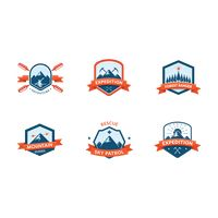 Set of outdoor logo element icons