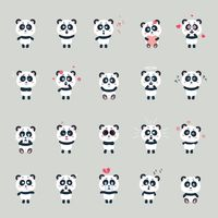 Set of pandas with expression