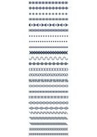 Set of pattern border designs
