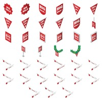 Popular : Set of sale tags and signboards