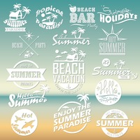 Set of summer holidays wallpapers