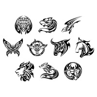Set of tattoo icons