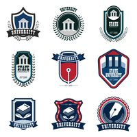 Set of university logo icons