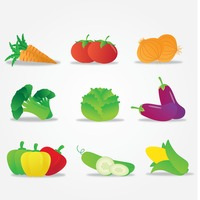 Popular : Set of vegetable icons