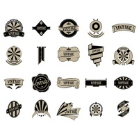 Set of vintage labels and badges