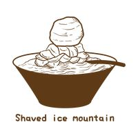 Shaved ice mountain