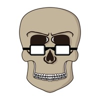 Skull with spectacles