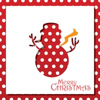 Popular : Snowman christmas card design