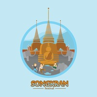 Songkran festival wallpaper