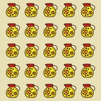 Spain orange juice jar pattern background