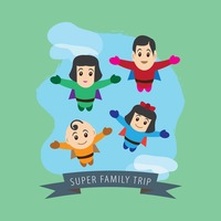 Superheroes family