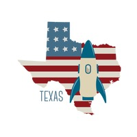 Popular : Texas state map with spacecraft