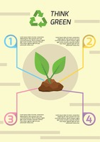 Popular : Think green infographic