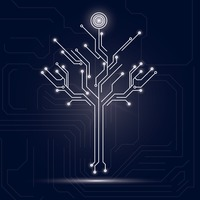 Tree design on circuit board background