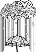 Umbrella in the rain design